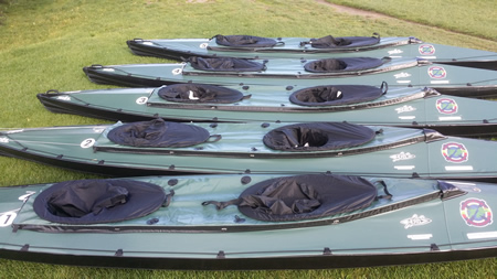 Devizes to Westminster canoe race - folding kayaks